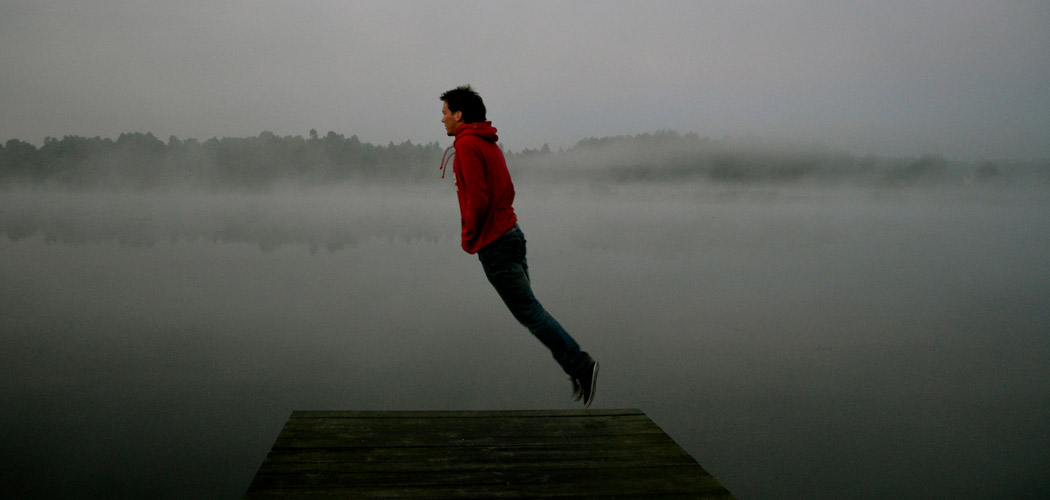 Hovering Over a Lake in Poland