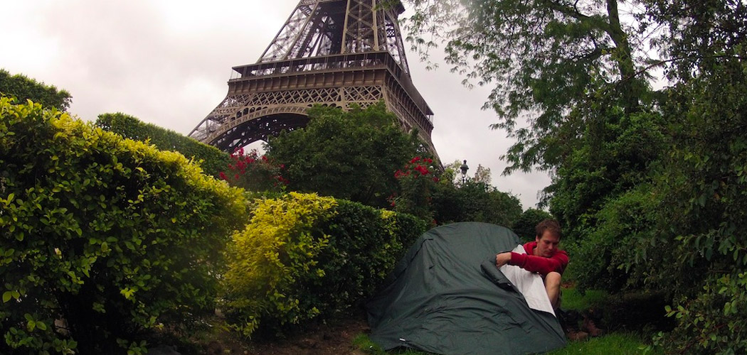Free Camping Under the Eiffel Tower