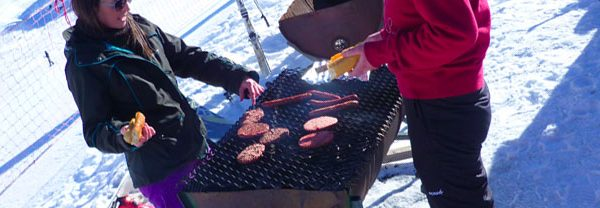 Cooking Burgers on the Mountain