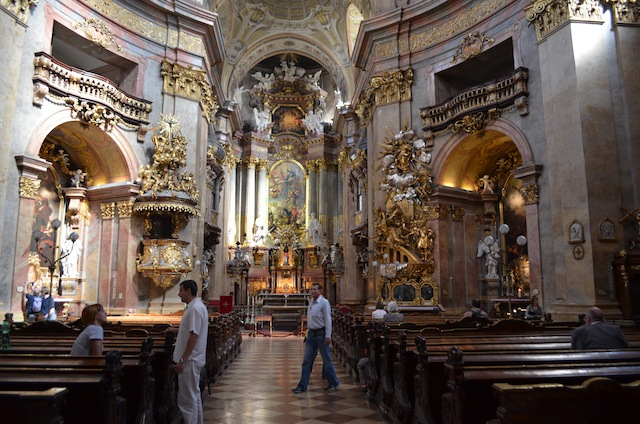 A church in Vienna. Cameras are normally forbidden.