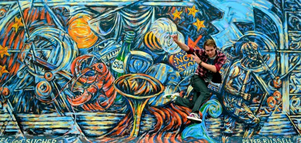 East Side Gallery Jump