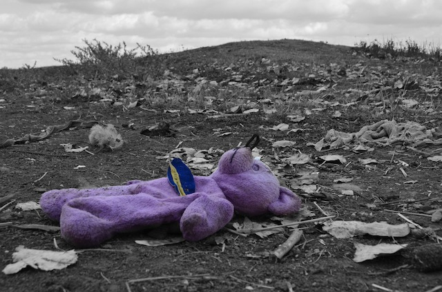 The mutilated teddy added to the drama of the situation