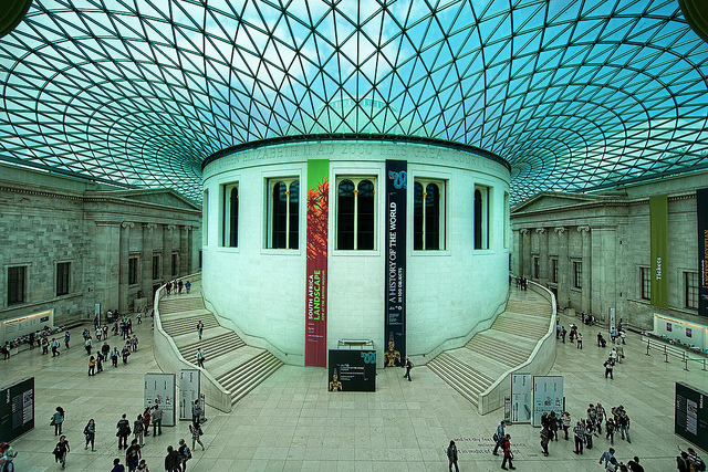 'The British Museum' by Trey Ratcliff is available at http://www.flickr.com/photos/stuckincustoms/5210447446/ under a Creative Commons Attribution 3.0. Full terms at http://creativecommons.org/licenses/by/3.0/
