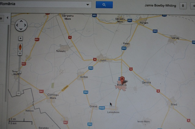 Our target on Google maps; a small village somewhere in Romania