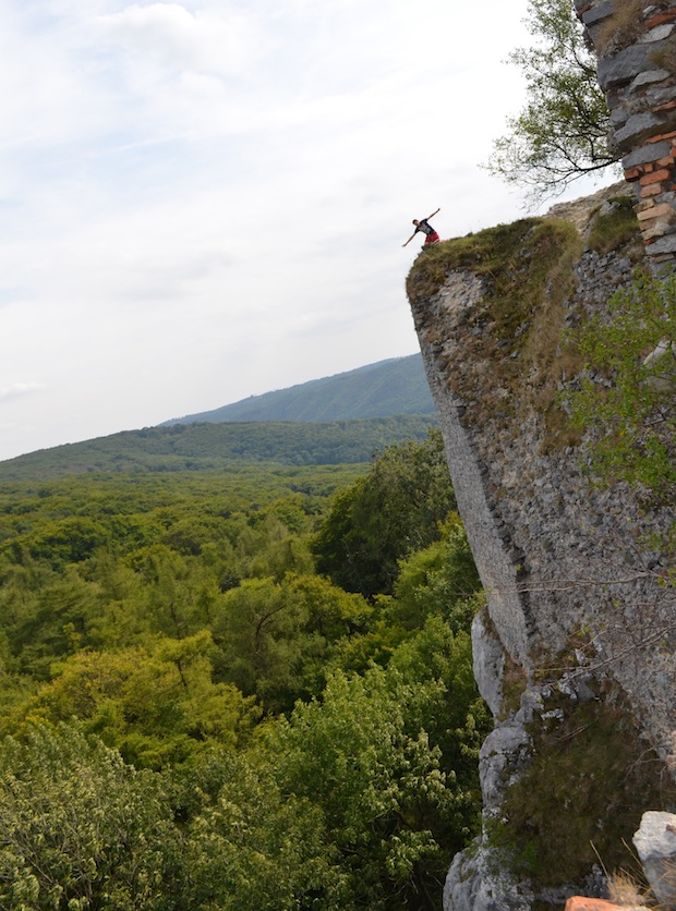 Standing on a cliff in Slovakia