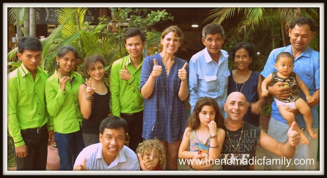 The Nomadic Family Lived and Worked in Siem Reap, Cambodia's Garden Village Guesthouse for Five Months