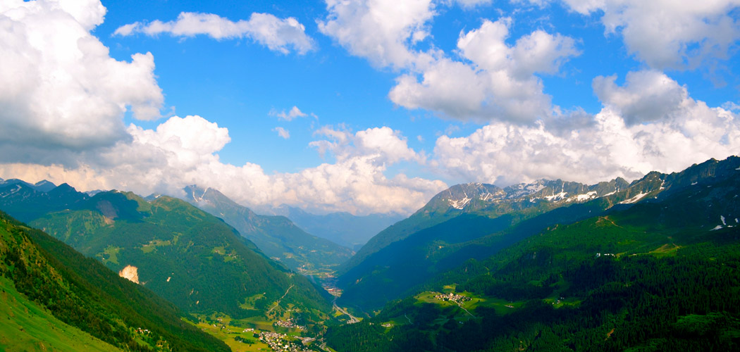 Mountains and Blue Sky Alps Swiss Switzerland