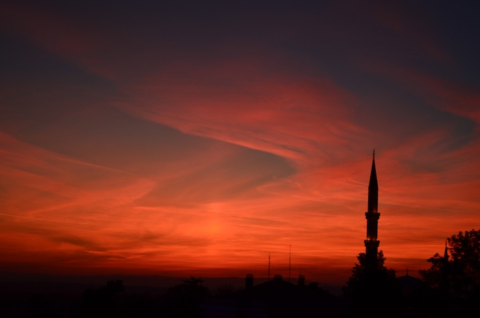 A Turkish sunset