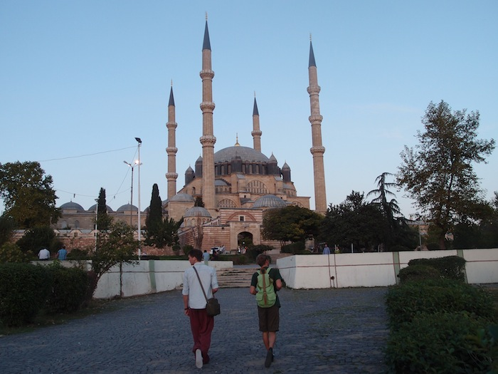 Visiting a mosque in Edirne