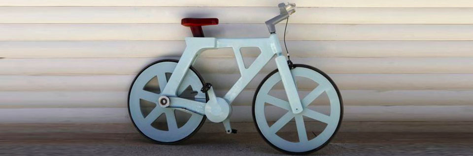 A $9 Bicycle Made Out of Cardboard