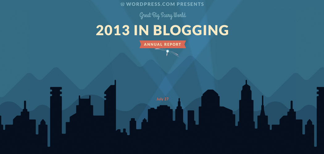 2013 in Blogging Great Big Scary World