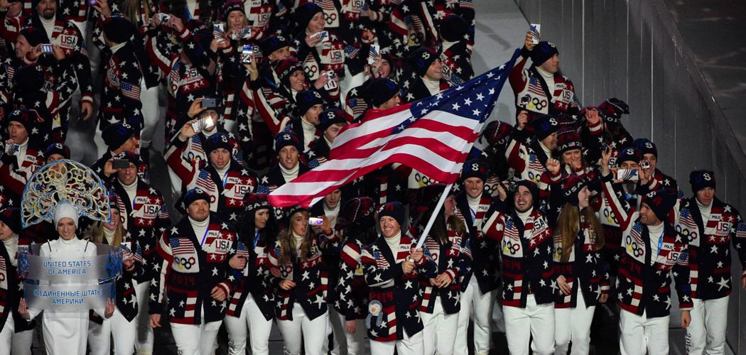 American Team Entering Winter Olympics