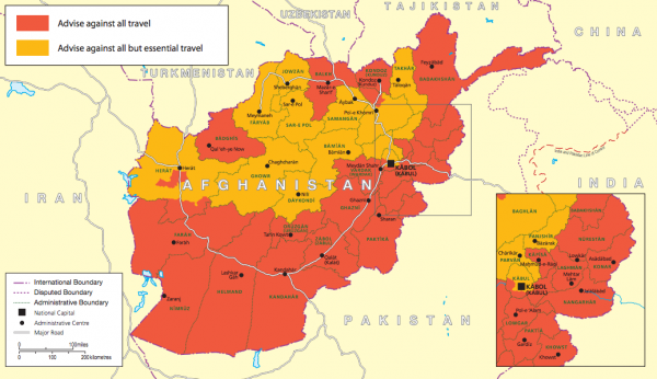 Travel Advice Afghanistan