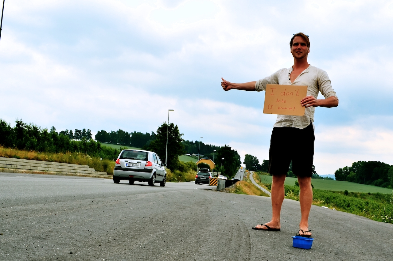 Hitchhiking in Norway with strawberries.jpg