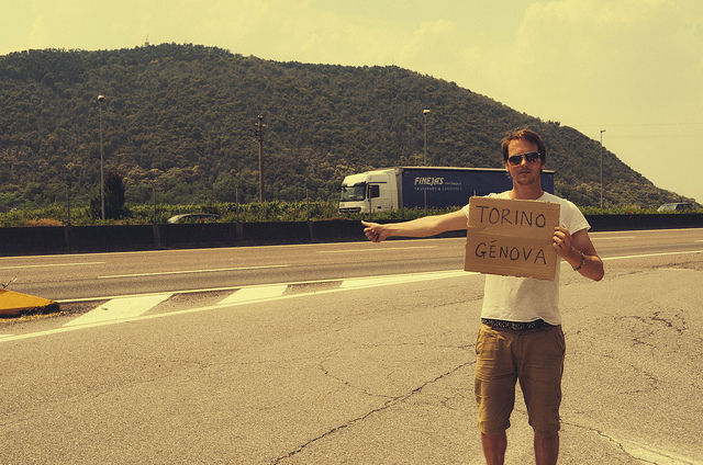 hitchhiking italy