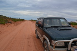 Dirt road to Gnaraloo