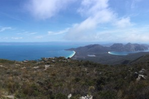 Freycinet Peninsular Track and Wineglass Bay From Above