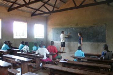 Starting simlpe whilst teaching on a volunteer project in Uganda