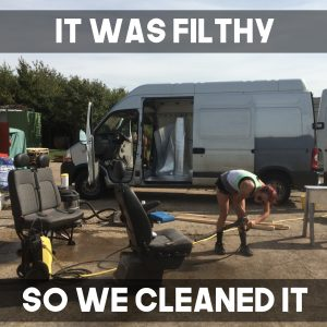The Van Was Filthy And Unloved Before We Could Do Anything Had To Remove Everything Scrub REALLY HARD