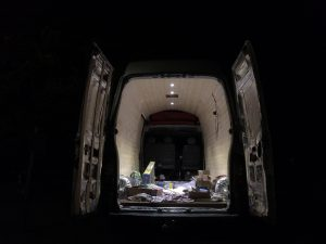 118-lights-installed-walls-ceiling-and-electrics-donkey-van-conversion-118