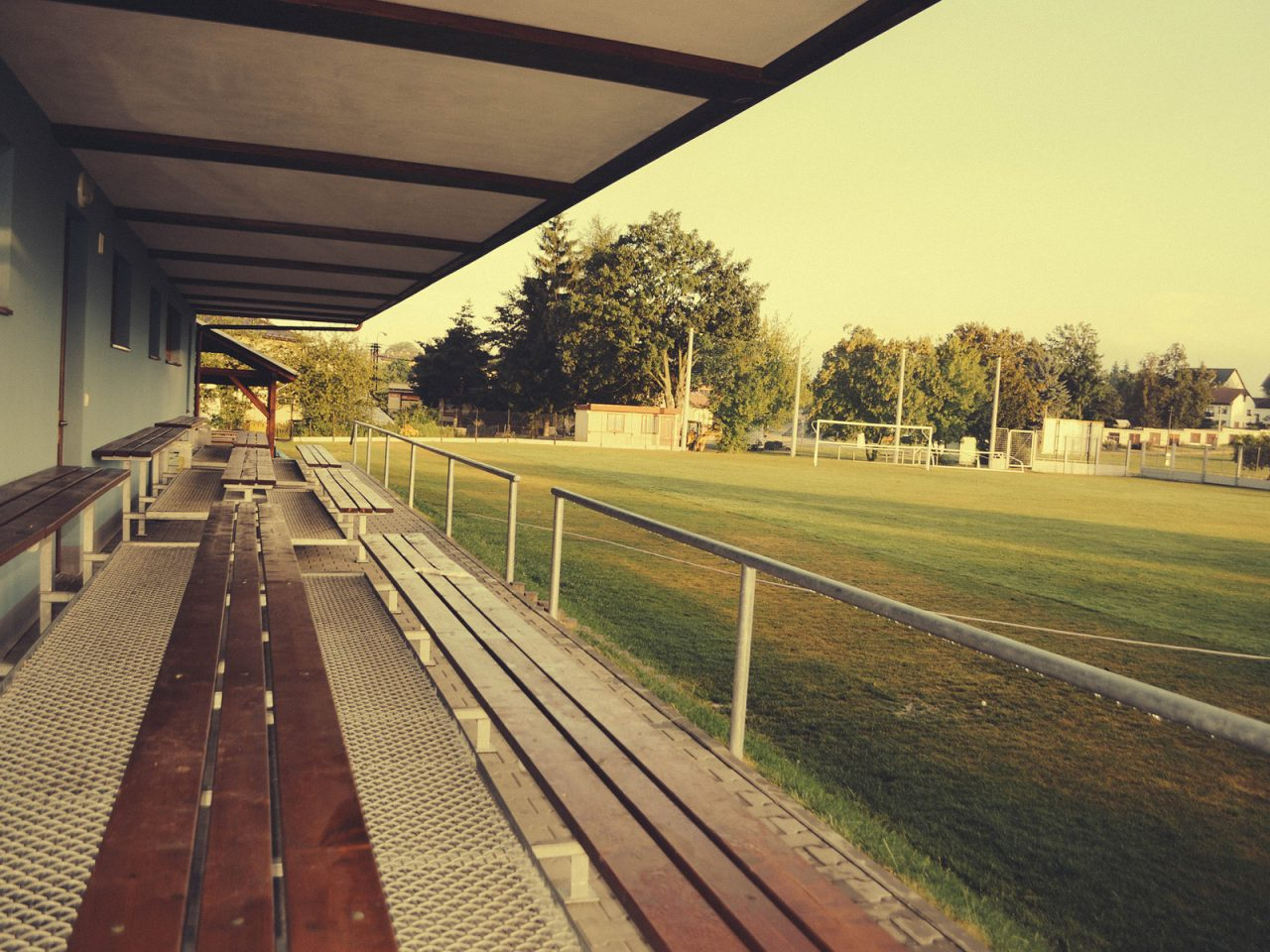 Football Stadium Benches, Czech Republic - Free Camping