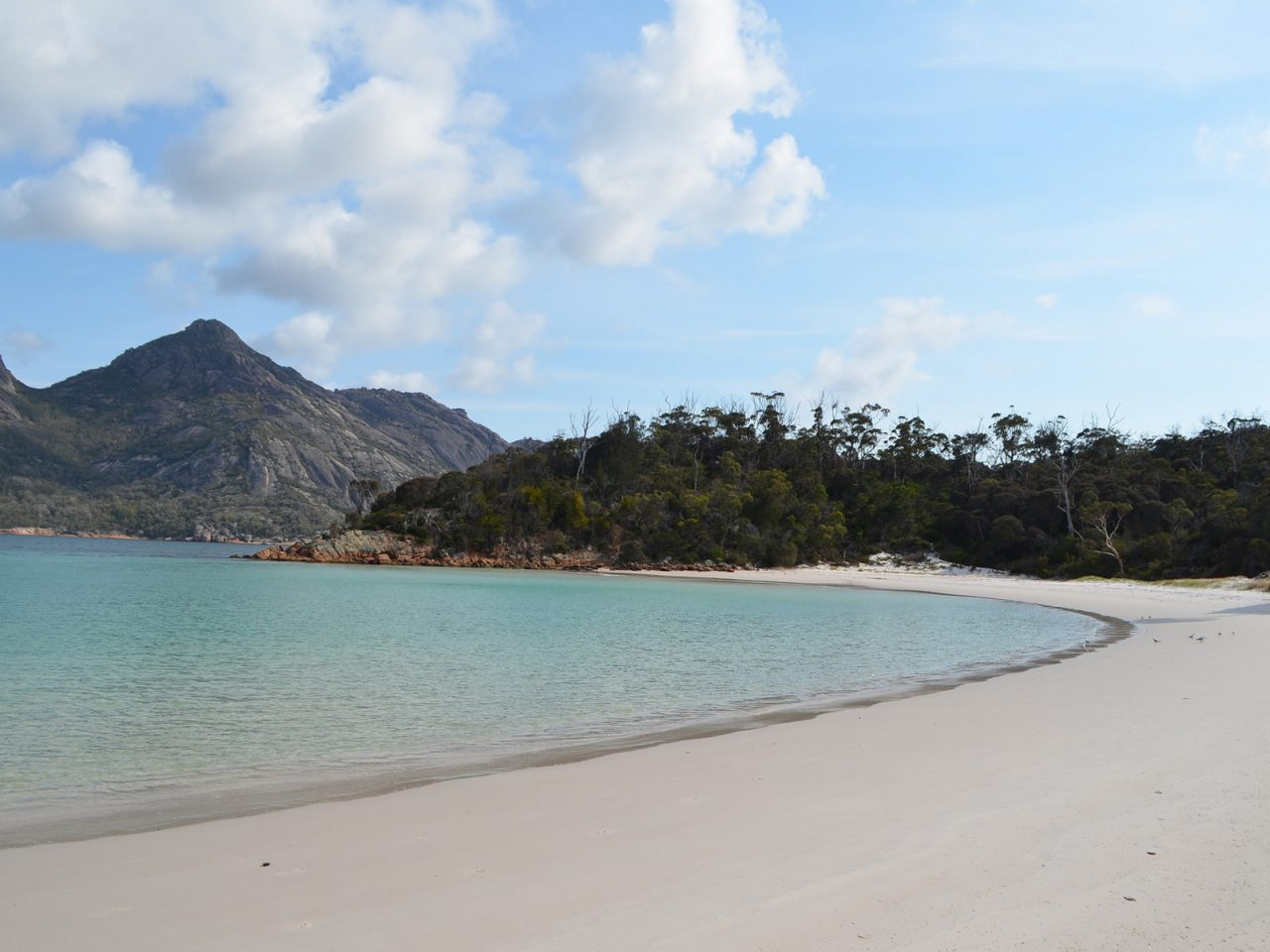 On the Beach in Wineglass Bay Freycinet Tasmania - Free Camping