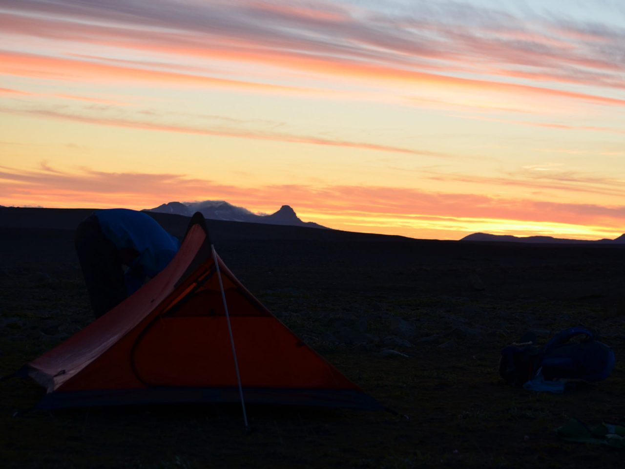 Under a Beautiful Sky in Iceland - Free Camping