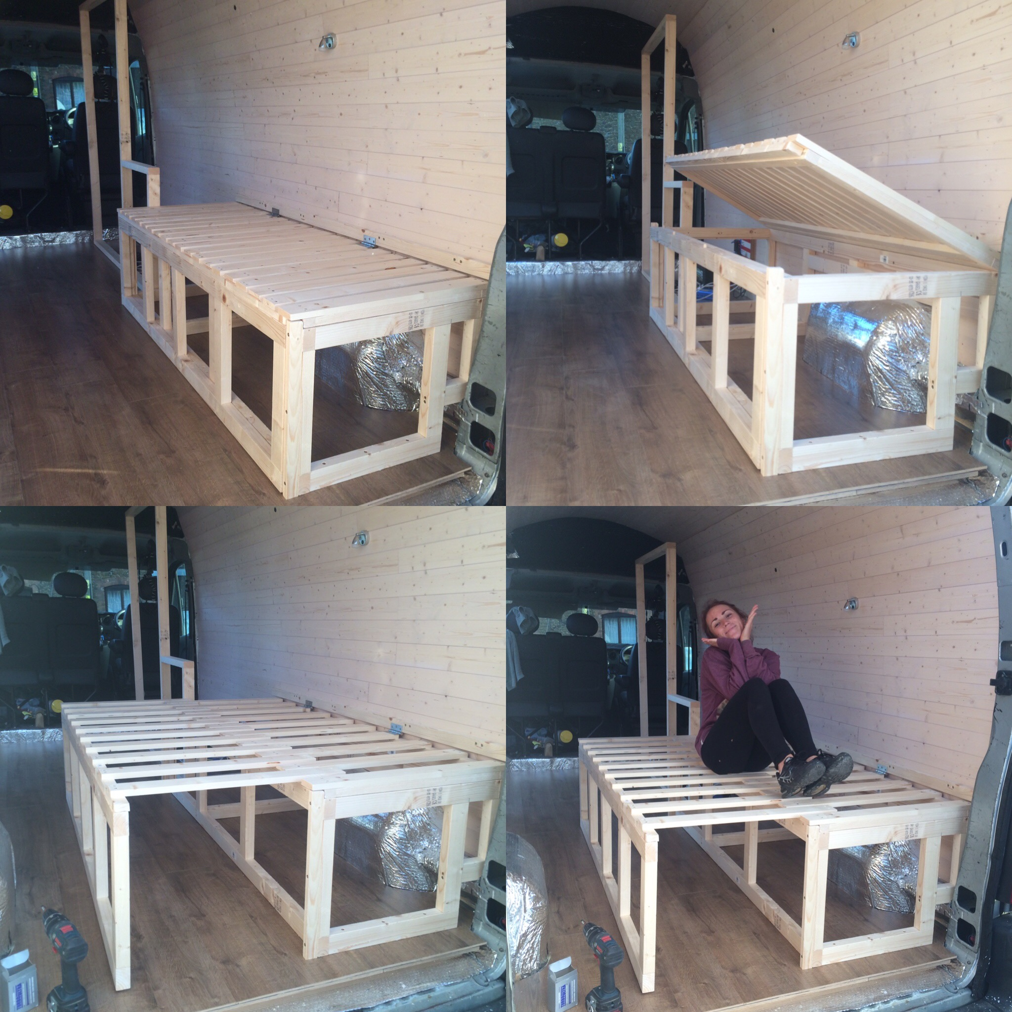 01 Bed Design Donkey Van Conversion Building The Furniture And