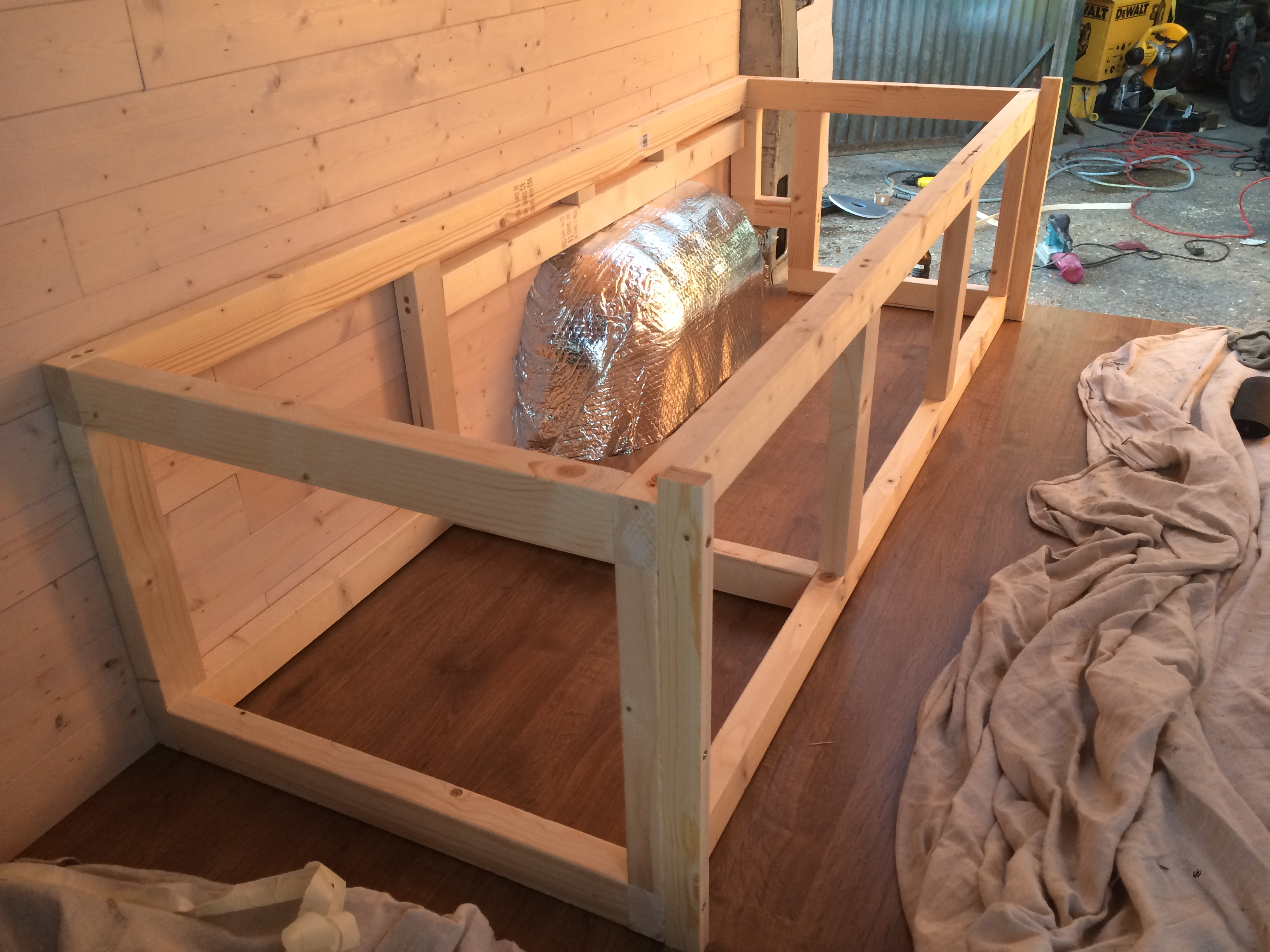 I Then Made A Frame That Fits Onto The Front Of Bed And Slides In Out On Top Fixed Slats Half Attached To Sliding Part