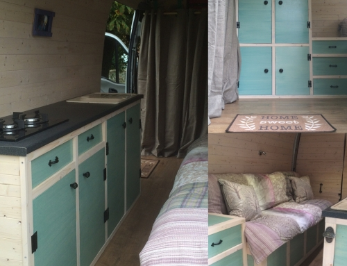 Our Home On Wheels: Furniture Construction, Painting, and Finishing